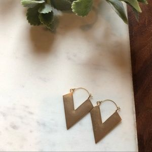 RESTOCK Anthropologie Style Thin Triangle Hoops